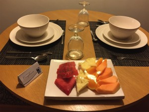 Fresh fruit platter at One Pacific Place