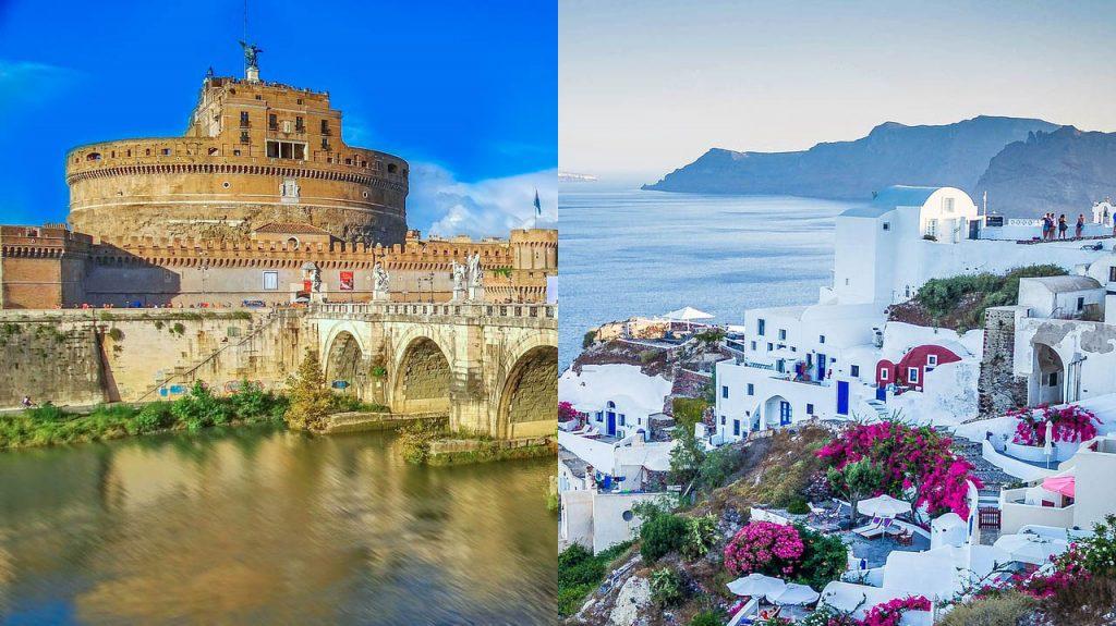 Rome & Santorini